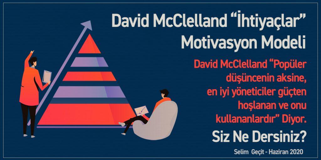 David McClelland İhtiyaçlar (Motivasyon) Teorisi - Selim Geçit Mayıs 2020